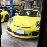 Yellow! Porsche! GTSにCCCF【ボディコーティングシートコーティングバックカメラHLフィルム】by用賀店
