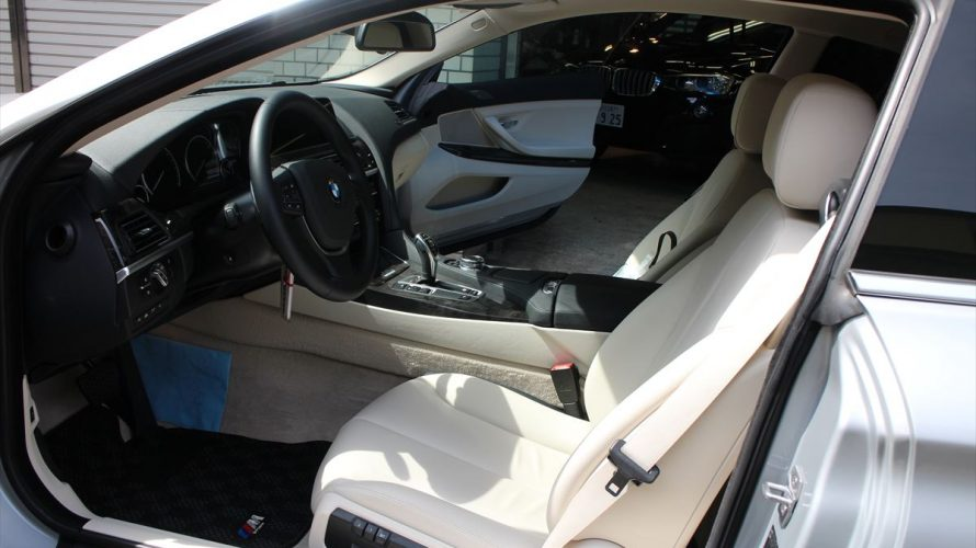 BMW 650i アイボリーの上質なインテリア・・ええ、やはりやはりのインテリアコーティング案件でございます。