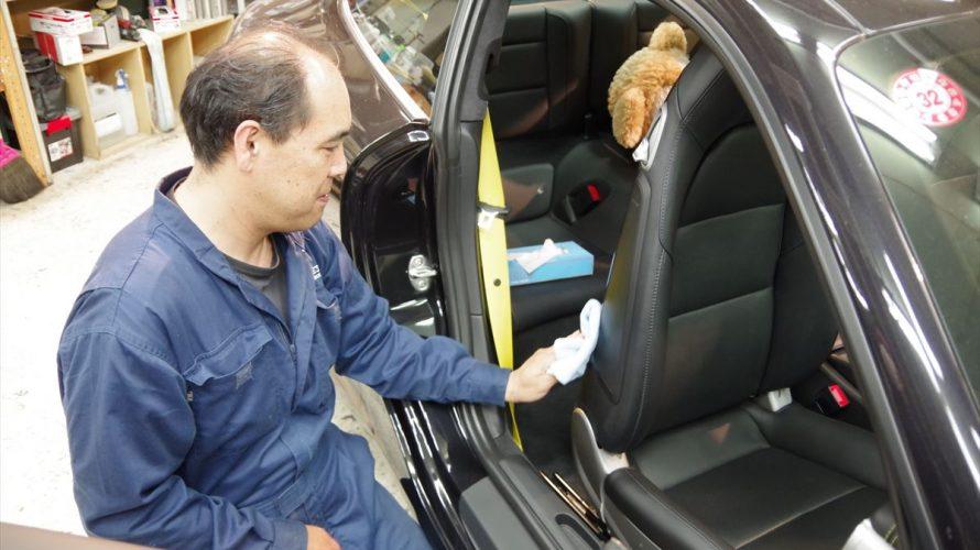 黄色シートベルトも喜ぶ!Porscheにシートコーティング