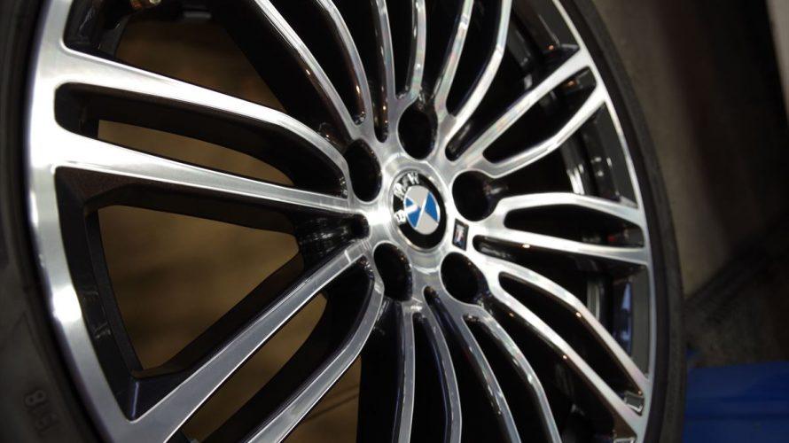 BMW540iにホイールコーティング全面施工!