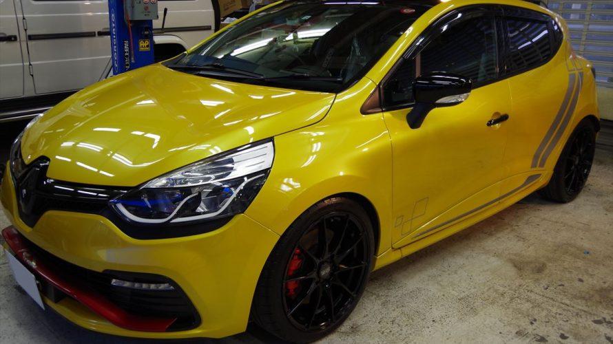 Renaultルーテシアにメンテナンスコーティング