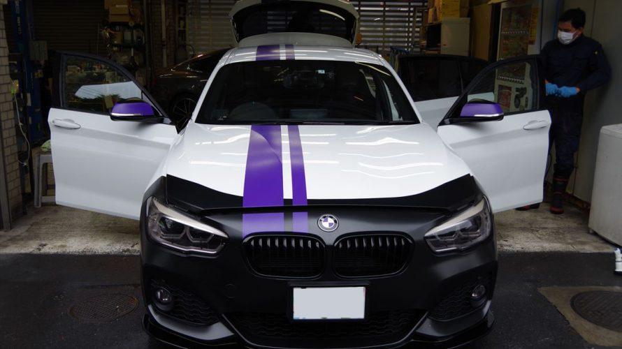 こだわりのパープル!BMWF20にメンテナンス&インテリアコーティング