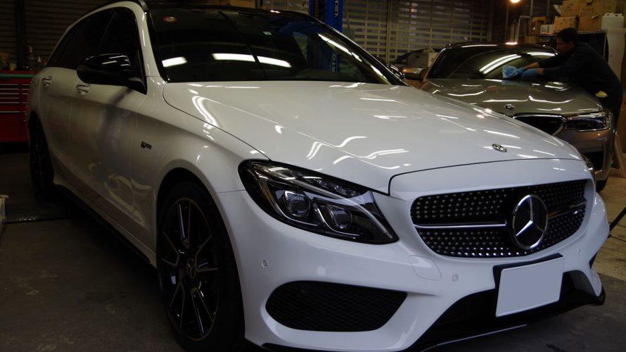 Mercedes AMG C43にボディ&インテリアコーティング