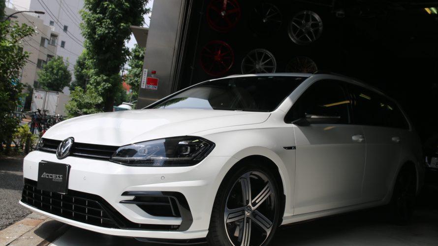 ド新車な、VW ゴルフ7.5R ヴァリアントにいろいろと!