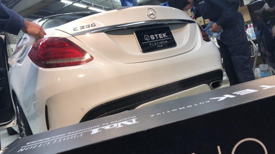 依頼殺到大人気ヘッドライトスモークプロテクション!Mercedes-BENZ C250にinstall!!