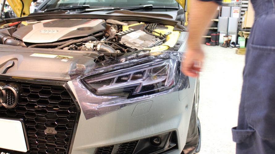 Audi S4avanteなラッピング車にもコーティング可能de大事なワケなのです!