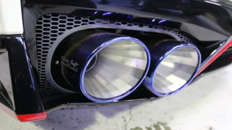R35 GT-Rにパワークラフトマフラーお取り付け!