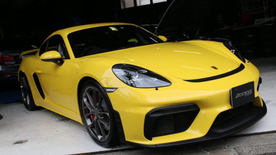 ケイマン GT4なお客様に、新車時のお決まりSet施工!