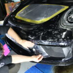 991 GT3 TOURINGに、STEKプロテクションフィルム フロントフル施工!