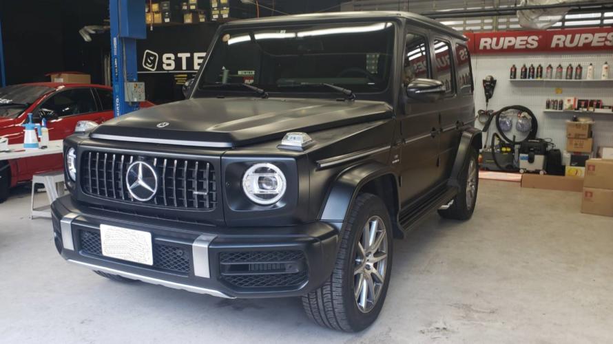 Mercedes Benz ゲレンデW463Aコーテイング&定番MATTブラックアウト!!